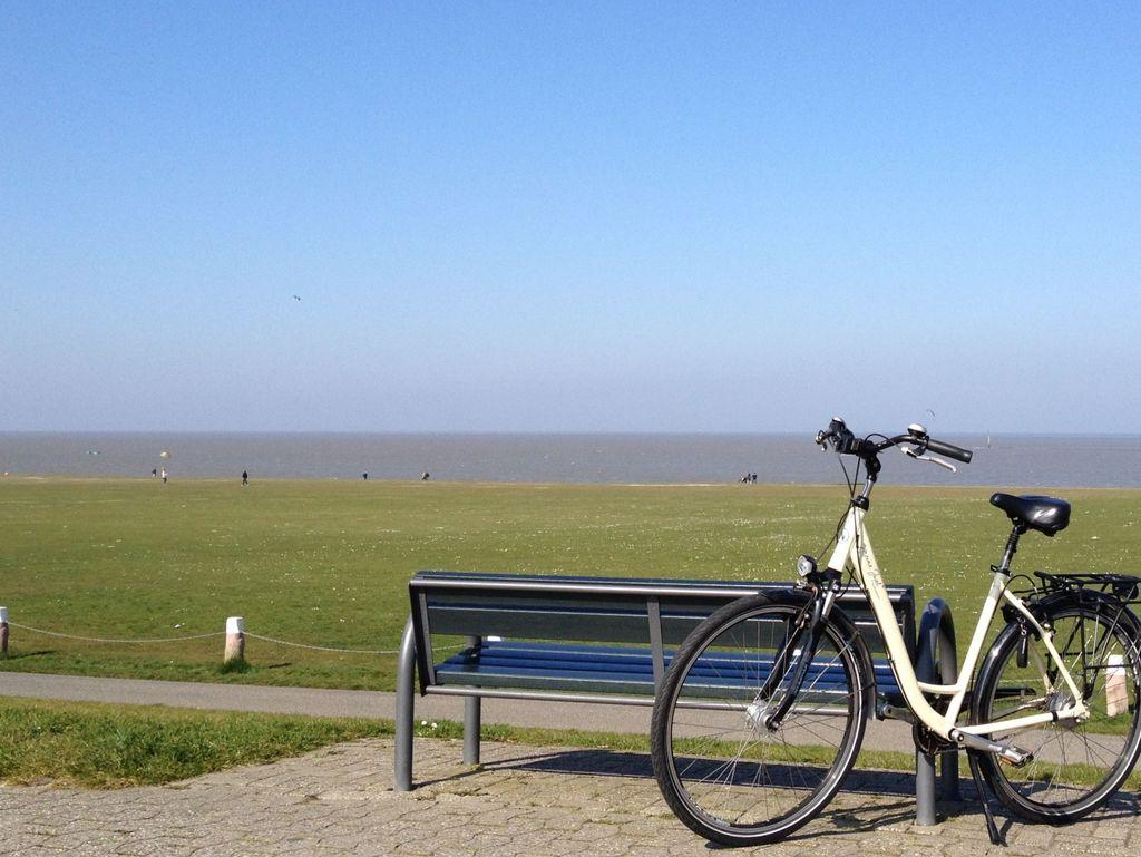 Fahrradpause in Norddeich